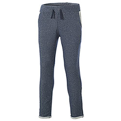 Pantaloni felpa Fit French Terry Contrast Brinato Blu