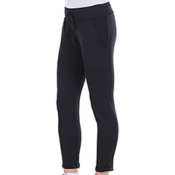 Pantaloni Lady French Terry Black