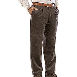 Pantaloni Kalibro Velluto Elasticizzati Duca Visconti M. Brown