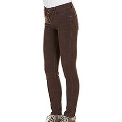 Pantaloni Donna Kalibro Fustagno Push Up Brown Cuoio