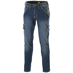 Jeans uomo Diadora Utility Denim Cargo Stone Blu Elasticizzati