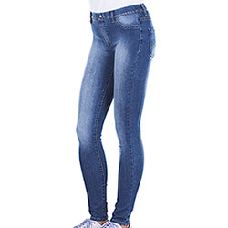 Leggings-Jeans Donna Carrera Super Stretch Medium Blu