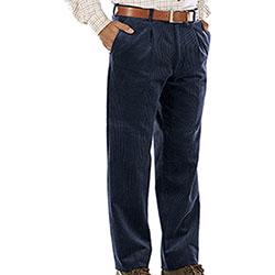 Pantaloni Kalibro Elasticizzati Velluto Duca Visconti M. Blu