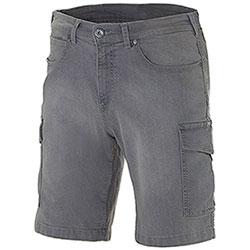 Bermuda Jeans Elasticizzati Washed Grey