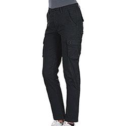 Pantaloni elasticizzati Donna Paris  Multipocket Black