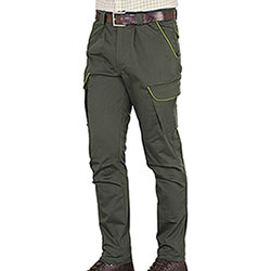 Pantaloni Kalibro Classic Cotton Stretch Profiles Migra Green