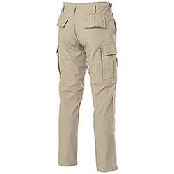 Pantaloni Teesar BDU Slim Fit RipStop Khaki Puro Cotone