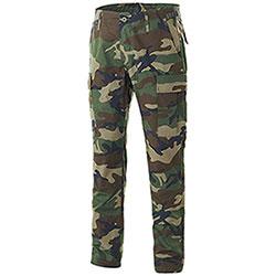 Pantaloni Teesar BDU Slim Fit RipStop Woodland