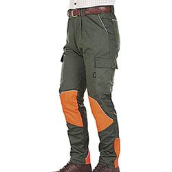 Pantaloni Kalibro Hunter Evò Cotton Stretch Green Cordura Orange