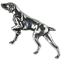 Hunting dog Brooch