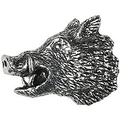 Wild Boar's Head Brooch
