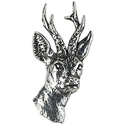 Pewter Roe-Deer Head Brooch