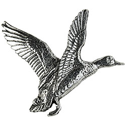 Pewter Mallard Open-Winged Brooch