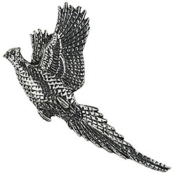 Pewter Flying Pheasant Brooch