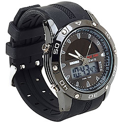 Orologio Solar Power Black