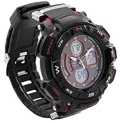 Orologio Black & Red Line