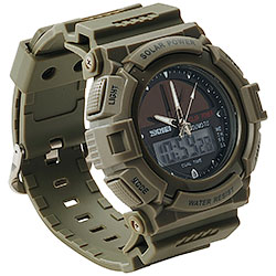 Orologio Solar Power Green