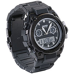 Orologio Dual Time Black New