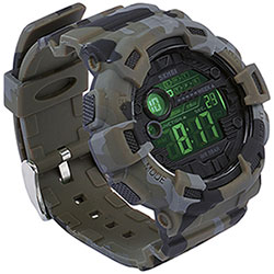 Orologio Camo Green Dual Time