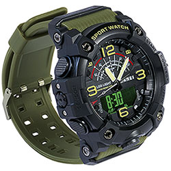Orologio Big Multifunzione Green and Black