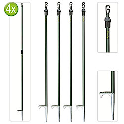 Set 4 Aste Telescopiche Hide Pole Kalibro per Parate
