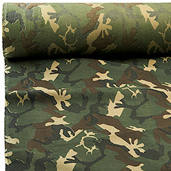 Sheet in Cotton Mix, Camouflage Design
