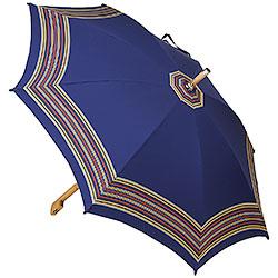 Ombrello da Campagna Romano Balzato Blu stecche Bamboo