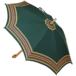 Ombrello da Campagna Romano Balzato Verde stecche Bamboo