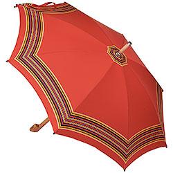 Ombrello da Campagna Romano Balzato Rosso stecche Bamboo