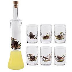 Set Liquore con Bottiglia Wild Boar