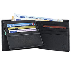 Portafoglio Avirex Na-102 Vera Nappa Black Flap Double Card+Card