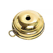 Thrush brass call, double rounded surface.