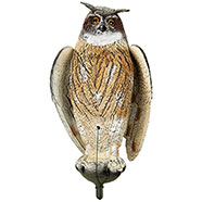Owl decoy, flapping wings