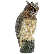 Perching owl decoy