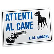 """Targa """"Attenti Al Cane e al Padrone"""""""