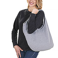 Borsa French Terry Grey
