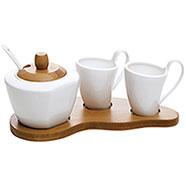 Set Caffè Porcellana e Bamboo