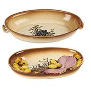 Set 2 Vassoi Ceramica Country