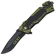 Coltello Army Green Safety