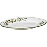Vassoio Terracotta Ovale Grande  Bianca Serie Olive