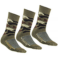 Set 3 Calze Short uomo New Hunting Stripe Wood