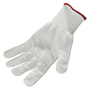 White protective gloves