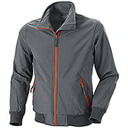 Bomber uomo Bruges Waterproof Softshell 3 Layers Grey Orange