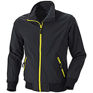 Bomber uomo Bruges Waterproof Softshell 3 Layer Black-Yellow