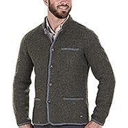 Giacca misto lana Kalibro Washable Wool Green Contrast Grey