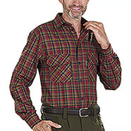 Camicia uomo Kalibro Winter Wool Check Green Red