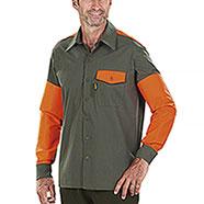 Over Shirt Kalibro Tracker Green Orange HV Cotone e Cordura