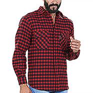 Camicia uomo Kalibro Winter Wool Check Red Black