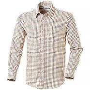 Camicia uomo Over Puro Cotone Tinto in Filo Beige Check