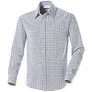 Camicia Over Puro Cotone Tinto in Filo White Check